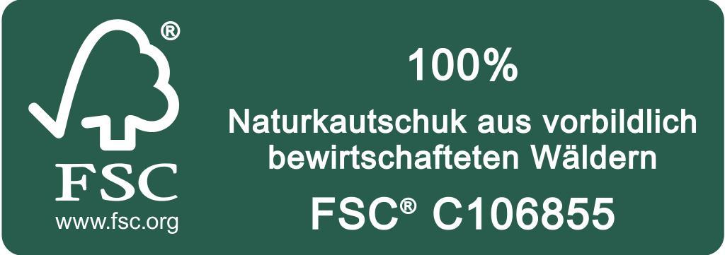 FSC Label Kautschuk quer