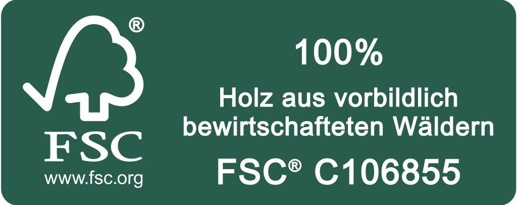 FSC Label Holz quer